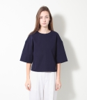 모한(MOHAN) [MOHAN] CROPPED BOXY TOP NAVY 모한