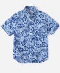 커버낫 15 S/S STRIPE ALOHA 1PK SHIRTS BLUE