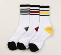 1507 무료배송 [3개 SET] 1507 3COLOR STRIPE ATHLETIC SOCKS