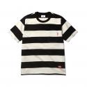 에스피오나지 Luca Border S/S T-Shirt Black/Ivory