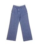 [DE WHITE] WIDE DENIM PANTS(BLUE)