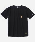 커버낫 15 S/S C LOGO POCKETT T-SHIRTS BLACK