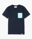 폴리그램(POLYGRAM) OXFORD POCKET T-SHIRT (NAVY)