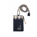 캉골 Card Holder Zip 9067 NAVY