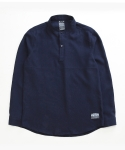 디시브 BASIC TWO SNAP LINEN NAVY SHIRT
