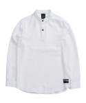 디시브 BASIC TWO SNAP LINEN WHITE SHIRT