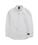 SIGNATURE TWO SNAP LINEN WHITE SHIRT