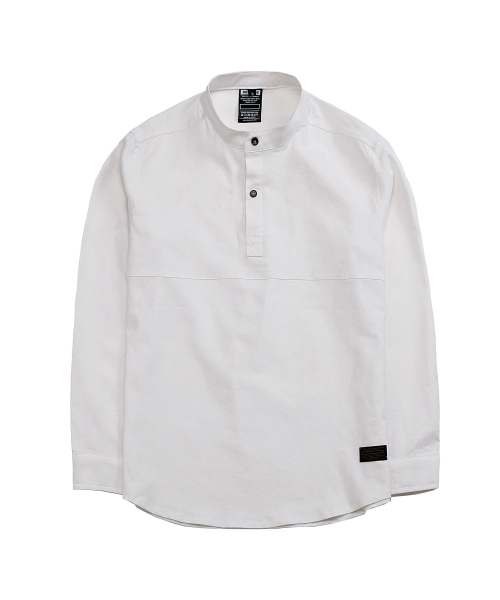 디시브(DESXXVE) SIGNATURE TWO SNAP LINEN WHITE SHIRT