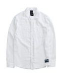 디시브 BASIC CHINO LINEN WHITE SHIRT