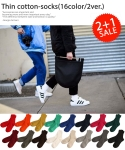 엔젤삭스 [2+1][UNISEX]Thin cotton-socks2(16color)-골지