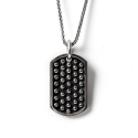더 클로토(THE CLOTHO) 925 ROUND STUD DOG TAG PENDANT
