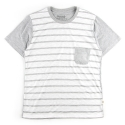 언티지 UMR 09 stripe slub pocket t-shirts_grey(남여공용)