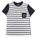 언티지() UMR 10 stripe slub pocket t-shirts_navy(남여공용)