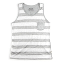 언티지 UMR 11 stripe slub pocket sleeveless_grey(남여공용)