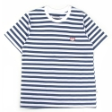 언티지() UMR 13 pixel teddy stripe t-shirts_navy(남여공용)