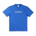 소버먼트 위드 로모트 20s usma patch tee-royal blue-