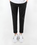 티알마크 LINEN BANDING PANTS BLACK