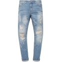 모디파이드 M#0580 9/10 length distressed jeans