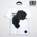[DISCENE]디씬 Fuck Rose 클래식 반팔 티셔츠 WHITE