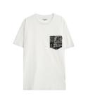칼하트WIP S/S LESTER T-SHIRT WHITE/BILL PRINT (BLACK) WHITE