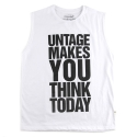 언티지 UTT 24 big letter sleeveless_white(남여공용)