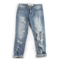 언티지 UTD 08 bright destroyed denim pants_blue