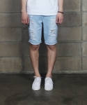 퍼블릭아이콘(PUBLIC ICON) [021]washed short denim