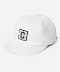 커버낫 15 S/S BOX C LOGO B.B CAP WHITE