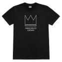 [지미코브리코] jimiko blico crown symbol short black 반팔티