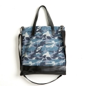 옐로우스톤(YELLOWSTONE) LEATHER COMBI CROSS BAG - YS2024BC /BLUE CAMO