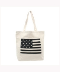 위고(WEGO) BLACK USA TOTE BAG