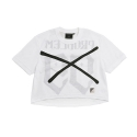 키즈아웃(KIZOUT) [KIZOUT]99PROBLEM MASH T-SHIRT_WHITE[CROP]