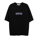 앤더슨벨 (UNISEX) Flocking Raglan T-shirt Black atb037