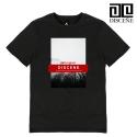 디씬 [DISCENE]디씬 VOLCANO UNIQUE 반팔 티셔츠 -BLACK