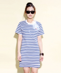 언티지 UWS 03 pixel teddy stripe one-piece_navy[WOMAN]