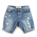 UTD 53 bright destroyed half denim pants_blue
