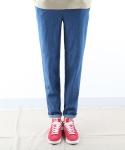 티알마크 WASHED BAND PANTS BLUE