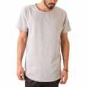 엘우드(ELWOOD) The Curved Hem Tail Tee in Heather Grey