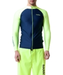 배럴 Kua Zip-Up Rashguard NAVY-N/YELLOW