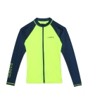 배럴 Piha Zip-Up Rashguard N/YELLOW-NAVY