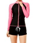 배럴(BARREL) Piha Zip-Up Rashguard BLACK-PINK