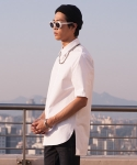 플레임 플라워(FLAME FLOWER) BASIC SHORT COLLAR SHIRT(WHITE)
