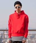 플레임 플라워(FLAME FLOWER) PULL OVER HOODIE(RED)