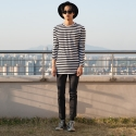 플레임 플라워(FLAME FLOWER) RAW HEM DENIM PANTS (INDIGO)