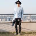 플레임 플라워(FLAME FLOWER) GREY WASHING DENIM PANTS (GREY)