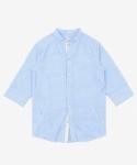파르티멘토 [파르티멘토] Seersucker Shirt Jacket Blue