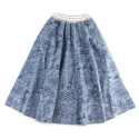 언티지() UWS 05 untage signature denim peasant skirt_blue[WOMAN]