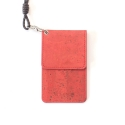CORK NECKLACE WALLET_red