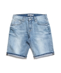 제로 Light Washed Indigo Shorts