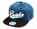 더블에이에이 피티드(DOUBLE AA FITTED) Shiny color heather RAIDER Logo cap